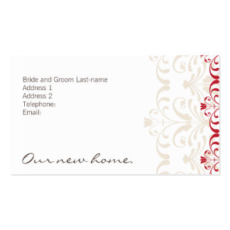 DESIGN 04- Colour: Red & White Business Card