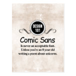 Design 101: Comic Sans is never an acceptable font Post Cards