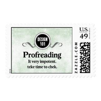 Design 101: Profreading (Proofreading)... Postage Stamps