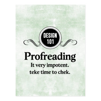 Design 101: Profreading (Proofreading)... Postcard