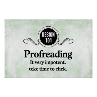Design 101: Profreading (Proofreading)... Poster