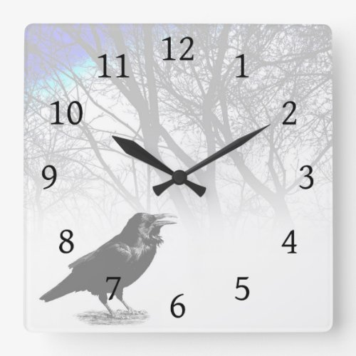 Crow Raven Wall Clock