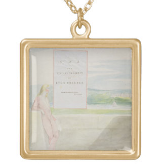 Design 13 for 'Ode on a Distant Prospect of Eton C Square Pendant Necklace