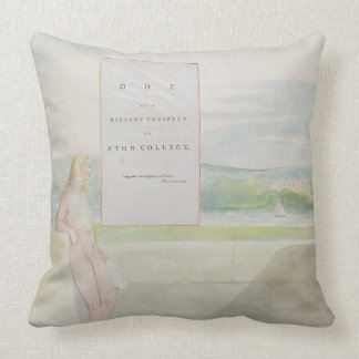 Design 13 for 'Ode on a Distant Prospect of Eton C Throw Pillow