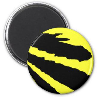Design 2010-1 Black Transp Greenville The MUSEUM Z 2 Inch Round Magnet