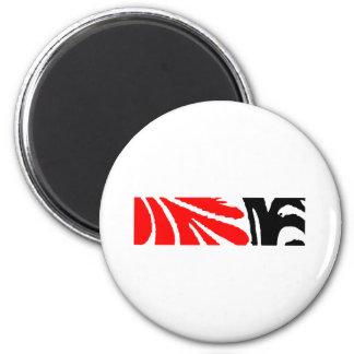 Design 2010-1 Red&Black Greenville The MUSEUM Zazz 2 Inch Round Magnet