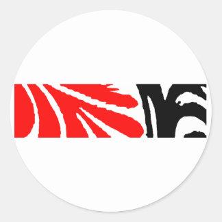 Design 2010-1 Red&Black Greenville The MUSEUM Zazz Classic Round Sticker