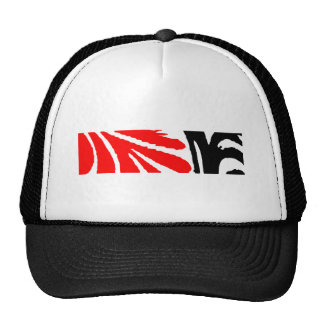 Design 2010-1 Red&Black Greenville The MUSEUM Zazz Mesh Hats
