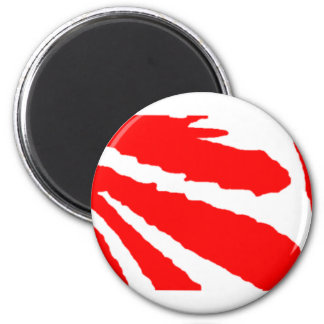 Design 2010-1 Red Greenville The MUSEUM Zazzle 2 Inch Round Magnet