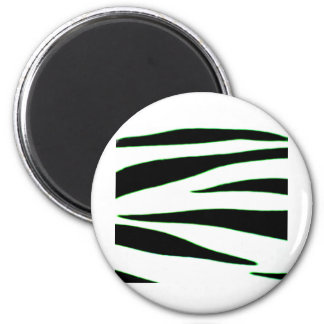 Design 2010-2s1green18-6 Black Greenville The MUSE 2 Inch Round Magnet