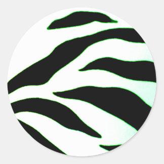 Design 2010-2s1green Black Greenville The MUSEUM Z Classic Round Sticker