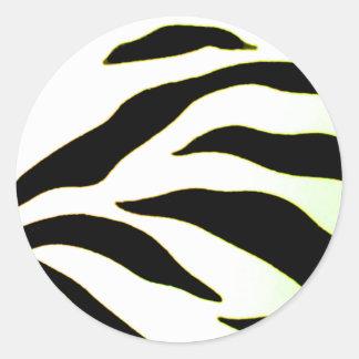 Design 2010-2s1yellow Black Greenville The MUSEUM Classic Round Sticker