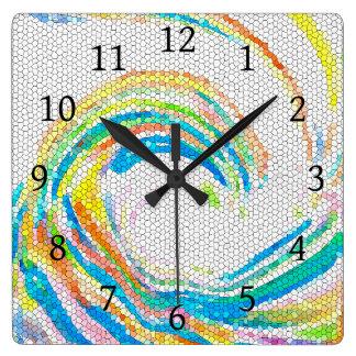 Design 35 Mosaic wave Square Wall Clock