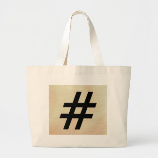 Design 6 - The World With Only Words Large Tote Bag