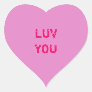 Design a Pink Conversation Heart Sticker
