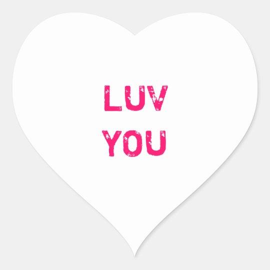 Design a White Conversation Heart Sticker