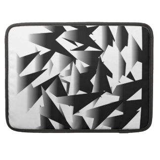 design black and white geometric shapes sleeve for MacBooks