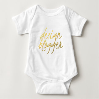 Design Blogger - Gold Script Baby Bodysuit