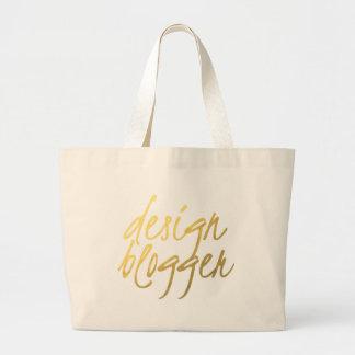 Design Blogger - Gold Script Bags