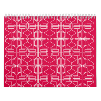 Design calendar red aztecs