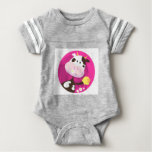 Design collection with Cow and Bell Baby Bodysuit