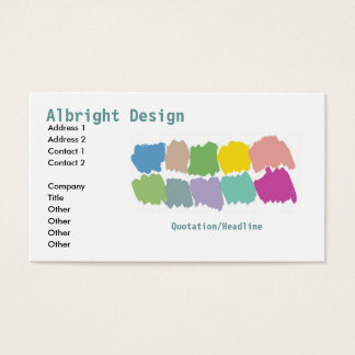 Design color paintbrush swatches Business Card-sta Business Card