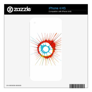 Design Colors Circle, Wall, Shapes Round, Art Styl iPhone 4S Decal