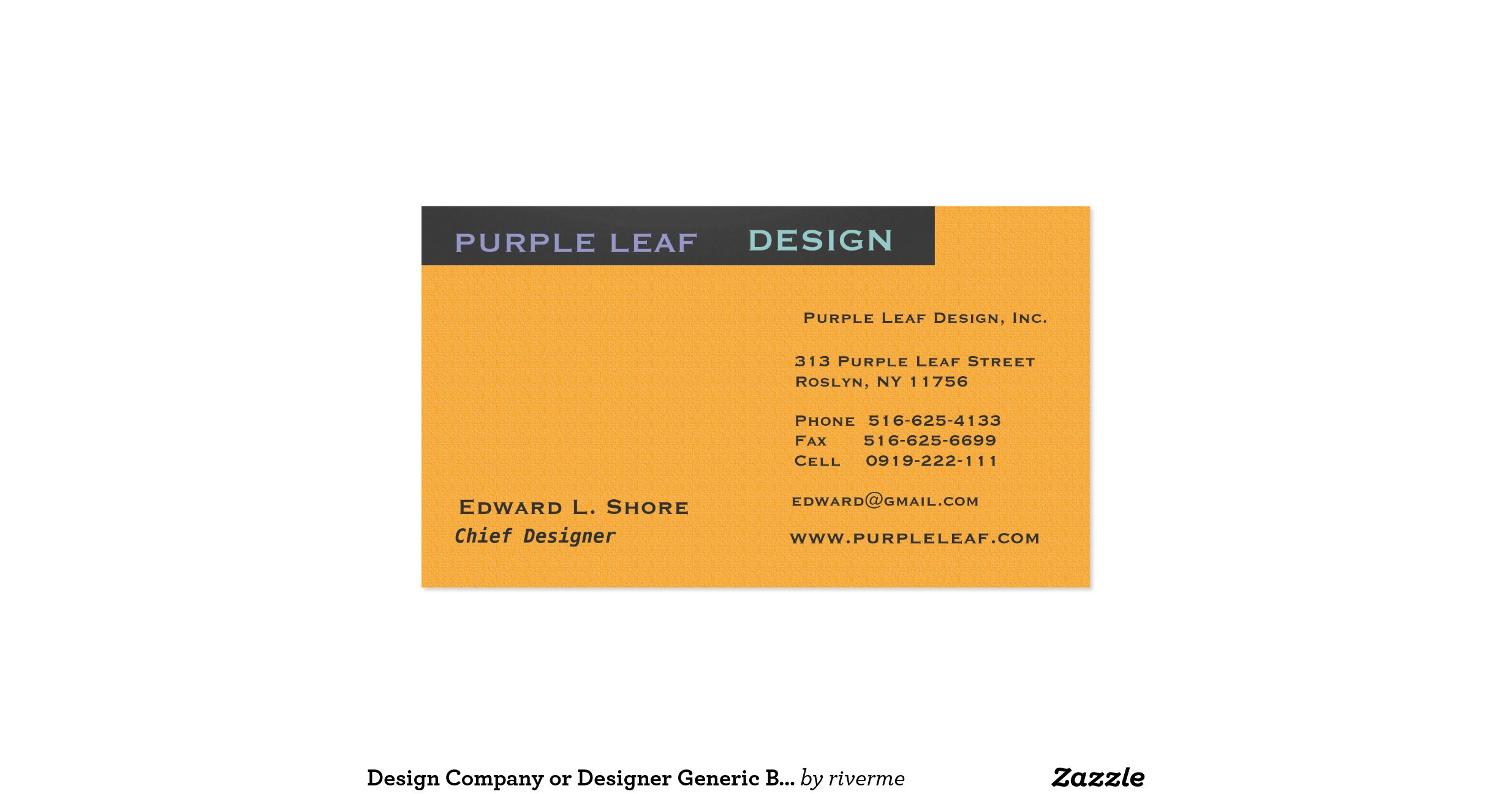 Design company or designer generic business card for Generic business cards
