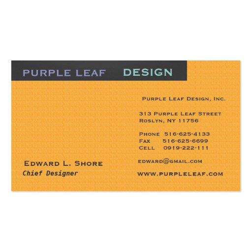 Design Company or Designer Generic Business Card