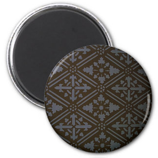 Design Crave Carving Craft wood Natural Brown Text 2 Inch Round Magnet