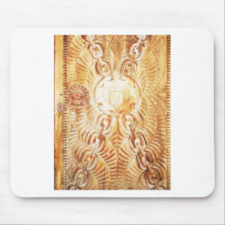 Design Crave Carving Craft wood Natural Brown Text Mouse Pads