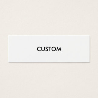 Design Custom Customize Blank Mini Business Card