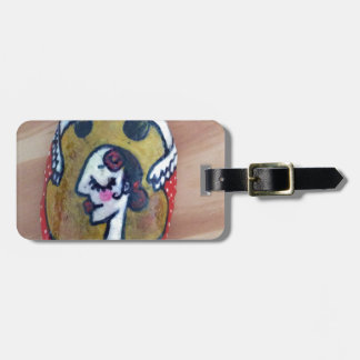 design dancing castanets yellow travel bag tags