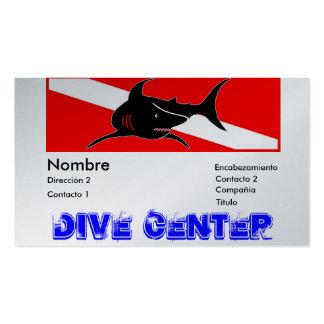 DESIGN DIVE CENTER BUSINESS CARD