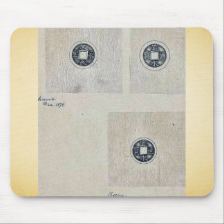 Design drawings for circular coins mouse pad