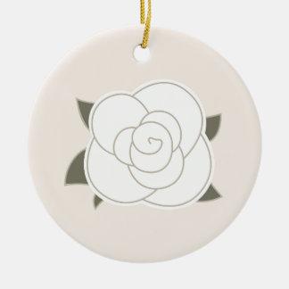 Design edition with Vintage rose Ceramic Ornament