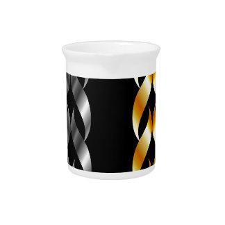 Design element in gold and silver drink pitcher