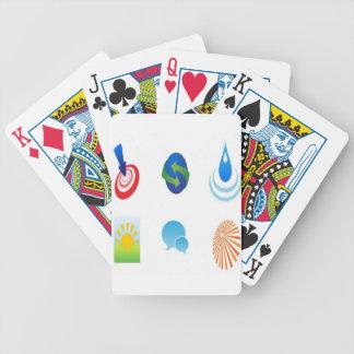 Design element pack bicycle card decks