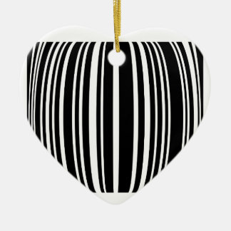 Design element with black stripes Double-Sided heart ceramic christmas ornament