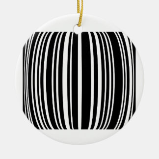 Design element with black stripes Double-Sided ceramic round christmas ornament