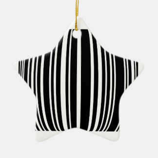 Design element with black stripes Double-Sided star ceramic christmas ornament