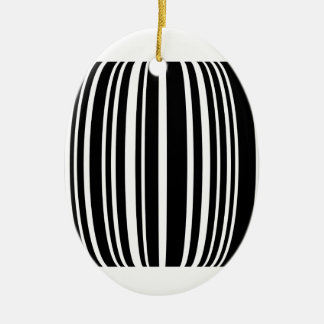 Design element with black stripes Double-Sided oval ceramic christmas ornament