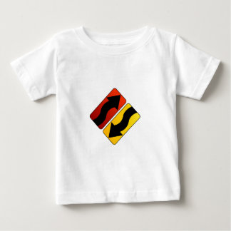 design element with colorful arrows baby T-Shirt