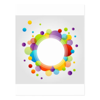 Design element with colorful circles postcard