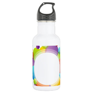 Design element with colorful circles stainless steel water bottle