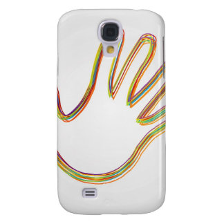 Design element with colorful hand galaxy s4 case