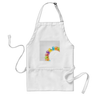 Design element with colorful hands adult apron