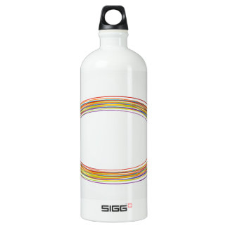 Design element with rings aluminum water bottle