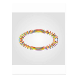Design element with rings postcard
