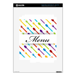 Design element with spoons and fork decal for iPad 3